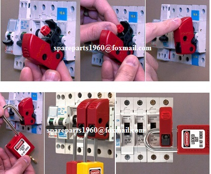 Master Lock S2394 TOOL FREE Univeral Mini Circuit Breaker Lockout.