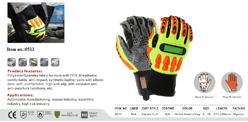 Mechanical gloves with silicon dots,anti-slip,anti-abrasion,anti-puncture
